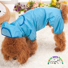 Nylon pet raincoat clothes rain coat for small dogs dog clothes yorkie clothes for puppies products for animals WX06