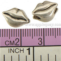 Wholesale Beads Charms Fit DIY Pandora Bangles Necklaces Thailand Silver Mouth Lip Large Hole Alloy Chic Jewelry Findings Wholesales mm