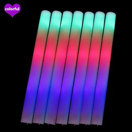 flan de mousse led Promotion Bâtons de mousse de levier Clignotant en mousse Bâtonnière Cheering Glow Foam Stick Luminous Sticks Festivals Christmas Carnival Concerts LED Cheer Props