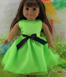Wholesale hot new style Popular quot American girl doll clothes dress Christmas hat Christmas dress the dollb b55