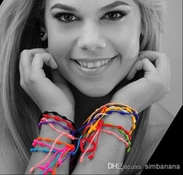 Mix color Religious bracelet hand rope Hand Made Knotted Rosary Bracelets Pulseras Decenarios