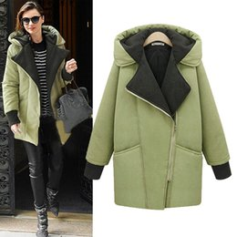 Womens winter jackets and coats fashion thickened cotton even cap oblique zipper long cotton-padded leisure warm jacket