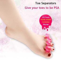 Wholesale 2pairs Gel Toe Separators Stretchers Straighteners Alignment Bunion Pain Relief Nail Art Salon Pedicure Manicure Tool Feet Care