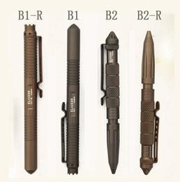 Wholesale 2015 LAIX B1 Tactical Defense Survival Portable Survival Pen design Camping Tool T6 Aviation Aluminum Freeshipping MFF300
