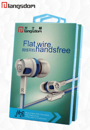 Venta caliente 3.5mm en el oído auriculares a estrenar bajo con micrófono de auriculares auriculares teléfono móvil de cable plano desde bajo plano proveedores
