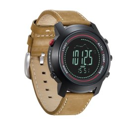 Wholesale Spovan Men Watch Fancy Outdoor Digital Sports Watches with Leather MG Sports Watch With Altimeter Barometer Compass