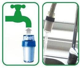 Wholesale 2015 Home Kitchen Simple Easy Faucet Tap Water Clean Filter Double Purifier Head PP B376
