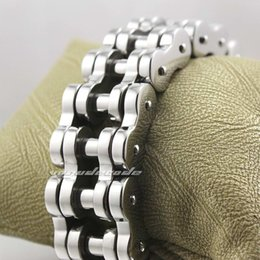 Huge Motorbike Chain 316L Stainless Steel Mens Biker Bracelet 5K002