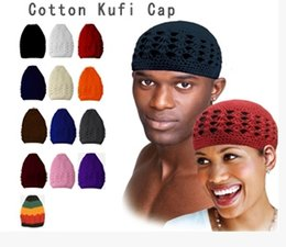 Wholesale-Fashion Female Cotton Kufi Cap Skullies & Beanies Male & Female Casual Knit Hat