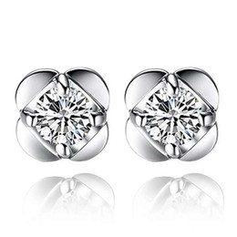 925 sterling silver items jewelry stud earring wedding charms ethnic vintage lucky clover flower hot fashion