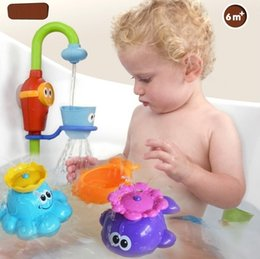 Wholesale Baby Toys New Tap Water Take A Shower With Rotation The Automatic Sprinkler Octopus Whale Bath Toys Water Toys MC