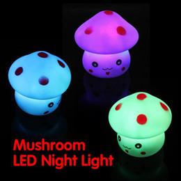 Wholesale Mushroom Shaped LED Novelty Lamp Night Light Colorful Changing Colors Nightlight Lamp Flashing Toy P4PM