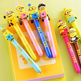 Wholesale 24 Minions Gel pen Despicable Me ink pens zakka articulos de papeleria Canetas escolar material school supplies