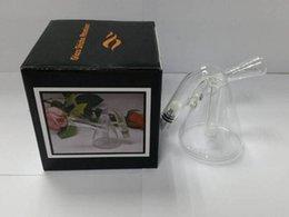 Wholesale Top quality Pyrex Glass shisha atomizer pipe Wax Coil Glass water atomizer Aqua Bubbler for dry herb wax atomizer Percolator glass bongs