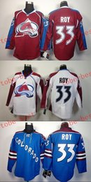Colorado #33 patrick roy Cheap Hockey Jerseys ICE Winter mens women kids Stitched Jersey Free shipping