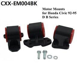 Aluminum Engine Mount Kit Racing sport Engine Swap Mount Kit Black (2-bolt Left Mount) for Honda Civic 92-95 DC2 EG CXX-EM004BK
