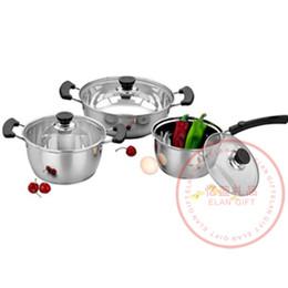 Wholesale-FREE SHIPPING Eternal classic cookware soup pot noodles pot porridge pot stainless steel pot logo