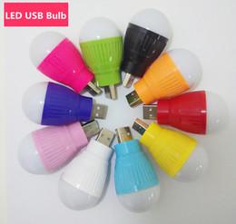 Wholesale Portable Mini W USB Bulb Colorful LED Light Lamp Room Light For Computer Laptop PC Desk Night Reading Searching Hiking DHL Free