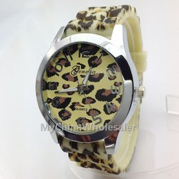 Wholesale 4 different Colored Style Rubber Material Leopard Watch Animal Fashion New Shadow Band Girl Boy Silicone Quartz Watches Hot Sell