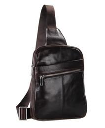 Wholesale-New Designer Men Messenger Bags Genuine leather Outdoor Sport Real Leather Chest Pack Cross body Sling Single Shoulder Bag Men