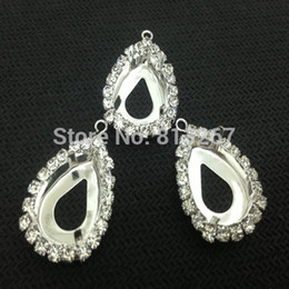 Wholesale 10x14 x30mm Pear Shape Silver Plated Claw With Supper Cup Chain For Pear Rhinestone holder