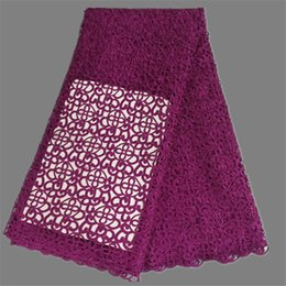 Luxury design African chemical cord lace water soluble lace fabric for fashion dress EW48(5yards pc)