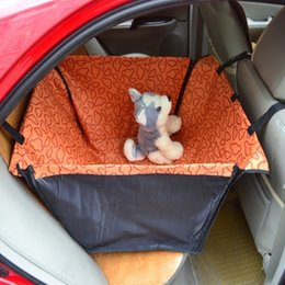 Скидка чехлы собаки сиденье Pet Dog Cat Водонепроницаемый чехол для автомобиля Коврик для кроватей Колыбель для кроватей Задняя спинка Домашние животные Гамак Защитная подушка синего цвета Красный Красный Розовый Оранжевый