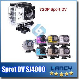 Wholesale OEM Mini SJCAM Sj4000 Sport DV Video Cameras HD Waterproof Action Camera 720P For Outdoor Activity Mini Camera Free DHL
