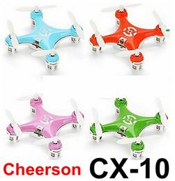 2016 meilleurs drones de la caméra Le meilleur prix Original Cheerson CX-10 à télécommande RC hélicoptère Quadcopter drone VS syma x5c x5sw jjrc h20 mjx x400 x800 x101 Factory chaud promotion meilleurs drones de la caméra