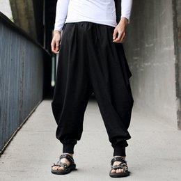 Wholesale Linen Fabric Trousers - Wholesale-2016 New Summer Pants For Men Casual Novelty Fashionable Style Linen&Cotton Fabric Loose Harem Men Pants Fresh Summer Trousers