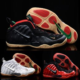 Wholesale Nike Air Foamposite Pro Black Gym Red Grg Green Metallic Gold Original Air Foamposite One Shoes For Men Basketball Sneakers