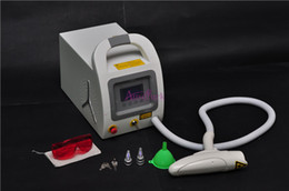 Wholesale 2015 New design nm nm Q Switch ND Yag Laser Tattoo Removal machine EYEBROW Cleaner Pigmentation Skin Care beauty Equipment