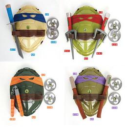 Wholesale 2016 New TMNT Teenage Mutant Ninja Turtles Weapons Toys TMNT Turtles Armor Shell Toy Movie Toys Kids Brinquedos Birthday A20
