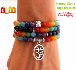 Wholesale SN0069 Mala Chakra bracelet or necklace chakra Yoga Meditation bracelet for women pure natural stone