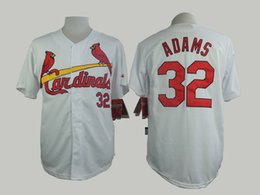 Wholesale Matt Adams White Jersey St Louis Cardinals Home Jersey Baseball Jerseys Authentic Stitched Cool Base Jersey