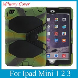 Wholesale Ipad Military Duty W Stand Hybrid Hard Cover Screen Protector for Apple iPad Mini with Stand Shock Dust Proof Various Colors PCC003