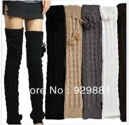 Wholesale fashion female winter wool yarn loose knee leg warmers socks shoes ankle sprained his leg boots socks
