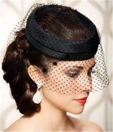 Hot Selling Black Net Birdcage Veils Face Veiled Wedding Hair Accessories One Tier Short Tulle Cheap Birdcage Veil Bridal Headpieces SKU323
