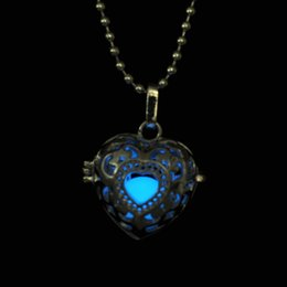 Wholesale Hollow Glow In Dark Necklace Luminous Harmony Ball Set Necklace Glow Ball Angel Caller Necklace