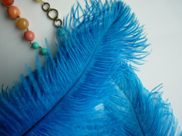 wholesale 100pcs lot 12-14inch 30-35cm teal blue Ostrich Feather Plumes dark turquoise for Wedding centerpiece christmas feather decoraction