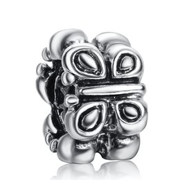 Wholesale Beautiful Bowknot Charm Sterling Silver European Charms Beads Fit Snake Chain Bracelet Fashion DIY Jewelry