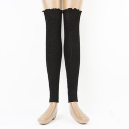 Wholesale-1 Pair Leg Warmers Women Girls New Winter Cotton Socks In Tube Socks Korea Breathable Absorbent Sock Knit Leg Warmers