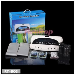 Wholesale Dual LCD screen ion cleanse foot bathing with belt T E N S massage detox foot spa Ionic detoxification machine for two person
