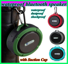 Wholesale c6 IPX7 wireless Bluetooth Speaker waterproof Suction Cup speakers Handsfree MIC Voice Box portable dustproof shockproof bluetooth