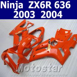 Top quality fairings set for kawasaki Ninja ZX6R 636 03 04 aftermarket ZX-6R 2003 2004 all orange fairing kit SD6