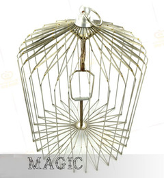 Free shipping Medium Dove Cage Appearing (silver) , Folding Metal Dove Cage, Appearing Magic Cage