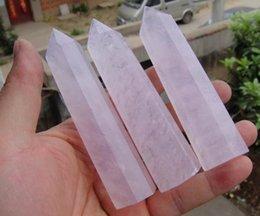 Wholesale 3pcs quot Pretty Pink Rose Quartz Crystal single Terminated Wand Healing
