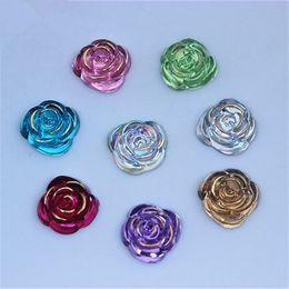 200PCS 15mm Flat Back Round Resin Rhinestones Crystal Beads Decoration ZZ110