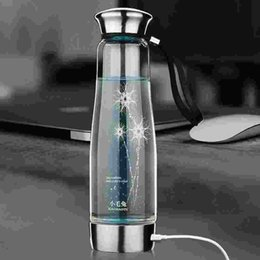 Wholesale Portable Intelligent Hydrogen Rich Water Maker Ionizer Generator ml USB Water Bottles Anti Aging Bottle with Colorful Light