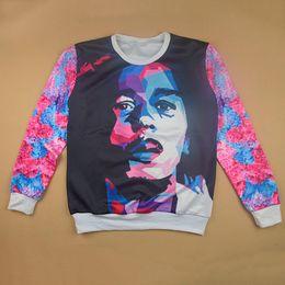 w1213 New fashion 3D pullover hoodie print character hoodies sweatshirts long-sleeve O neck sweatshirt casual sweat shirts wholesale
